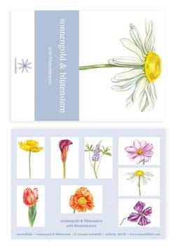 """Kartenbox """"Sonnengold und Blütenstern"""" kb106"""
