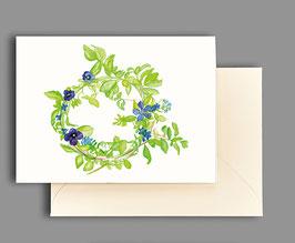 Grußkarte Blütenkranz Artikelnr. kl 249