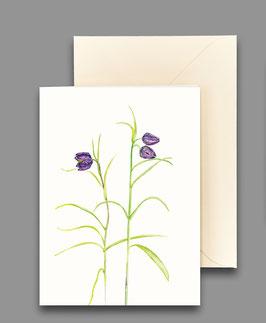 Grußkarte Schachbrettblumen Artikelnr. kl 244