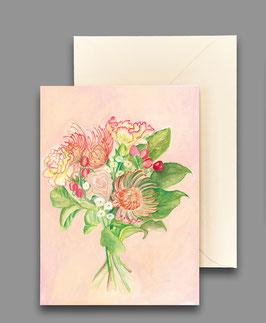 Grußkarte Blumenstrauss Artikelnr. kl252
