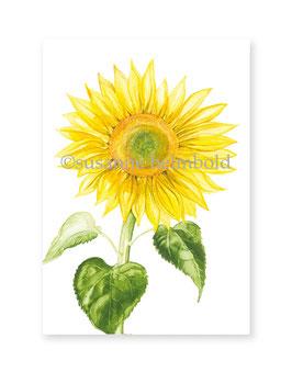 Minikarte Sonnenblume, Artikelnr. mk007