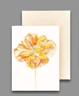 Grußkarte Taglilie orange  Artikelnr. kl 266