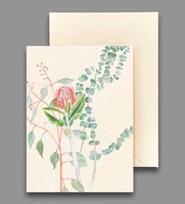 Grußkarte scharlachrote Banksia Artikelnr. kl 254