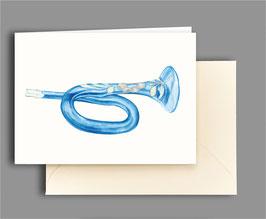 Weihnachtskarte Trompete Artikelnr. kl407