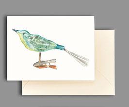 Weihnachtskarte Vogel Artikelnr. kl402