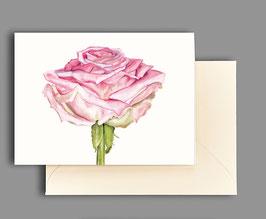 Grußkarte Rose kl206