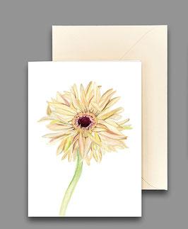 Grußkarte Gerbera elfenbeinfarben Artikelnr. kl278