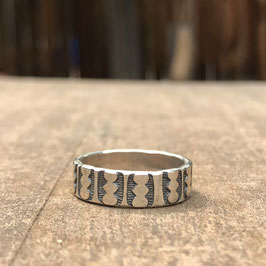 Sterling silver unisex ring band