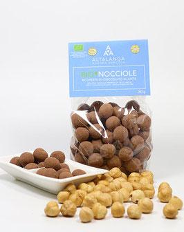 Schokolierte BIO-Haselnüsse (Vollmilch) - BIO-Nocciole ricoperte di Cioccolato al Latte 200g