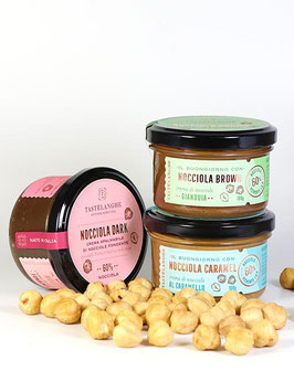 Probierset Crema di Nocciole von Tastelanghe 3 x 100g
