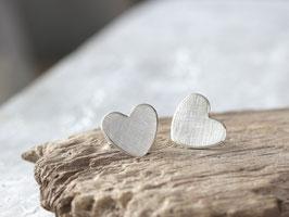 Ohrstecker Herz aus 925 Silber