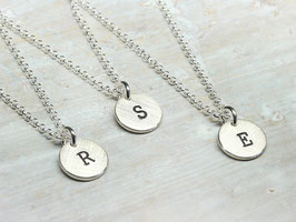 925 Silberkette mit Buchstabe, personalisiert, Kette 45cm