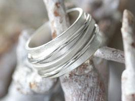 Drehring Wellen aus 925 Silber,
