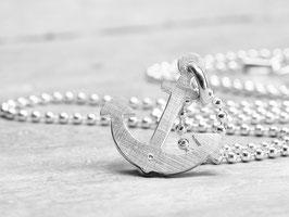 925 Silberkette mit Anker, maritime Kette, 45cm