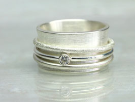 Drehring SPARKLE aus 925 Silber