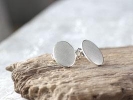 Ohrstecker Oval aus 925 Silber