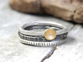 Ringset No. 6: Feingold und Silber, dreiteilig