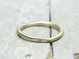 333 Goldring Stapelring mit Diamant, Diamantring
