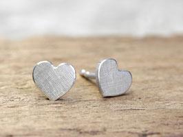 Ohrstecker Herzchen aus 925 Silber