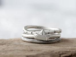 Ringset No. 7: AHOI aus 925 Silber, dreiteilig