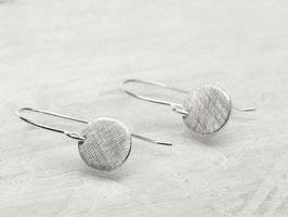 Runde Ohrringe/Ohrhänger aus 925 Silber
