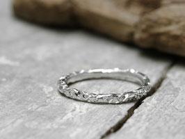 Stapelring No. 031 aus 925 Silber, strukturiert und poliert