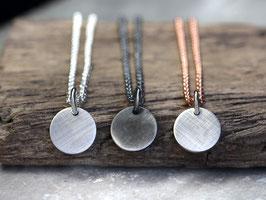 Silberkette mit runden Anhänger aus 925 Silber