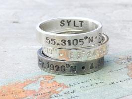 925 Silberring Koordinaten