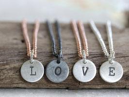 Halskette mit Buchstabe aus 925 Silber