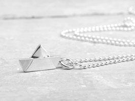 925 Silberkette Schiff Ahoi, maritime Kette 45cm