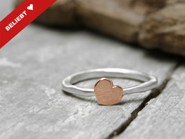 Stapelring No. 025 aus 925 Silber und 333 Rotgold