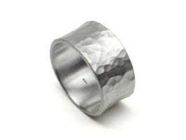 Bandring Herrenring mit Hammerschlag aus 925 Silber