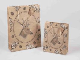 Geschenkstüte Hirsch 18 x 23cm 545398 - Weihnachten