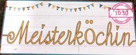 Wandbild Meisterköchin - Geschenk Deko