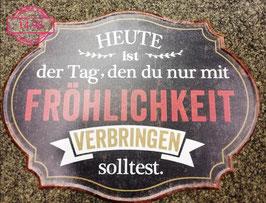 Wandbild Fröhlichkeit - Geschenk Deko