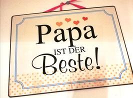 Wandbild Papa - Geschenk Deko