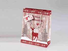 Geschenkstüte Rentier 18 x 23cm 545367 - Weihnachten