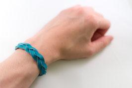Leder-Armband (türkis)