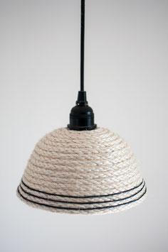 Sisal-Lampenschirm (schwarz)