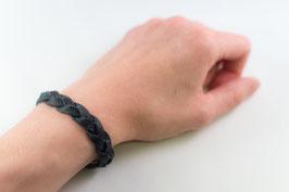Leder-Armband (schwarz)
