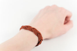 Leder-Armband (rotbraun)