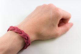 Leder-Armband (himbeer)