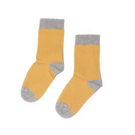 Socks marigold/grey