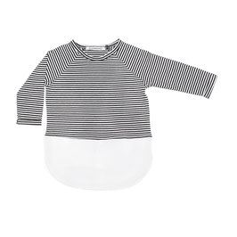 Combi dress b/w Stripes