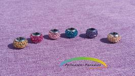 Edelstahl-Perle mit Strass