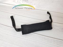 Beißwurst schwarz mit zwei Gurtbändern ca. 4 x 20 cm