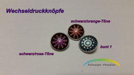 Easy-Button/Wechseldruckknopf PK1 / Glasklebestein