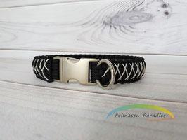 Double Micro - black & silver grey für einen Halsumfang von ca. 44 / 44,5 cm