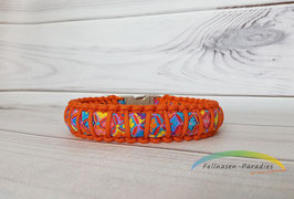 "Halsband ""Candy"" in orange-Tönen - HU netto: ca. 42 - Sonderpreis"