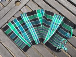 Schwarz-grün-blau karierter Schal